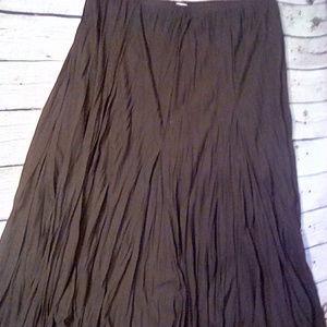 Rafael Essential size XL chocolate crinkle skirt